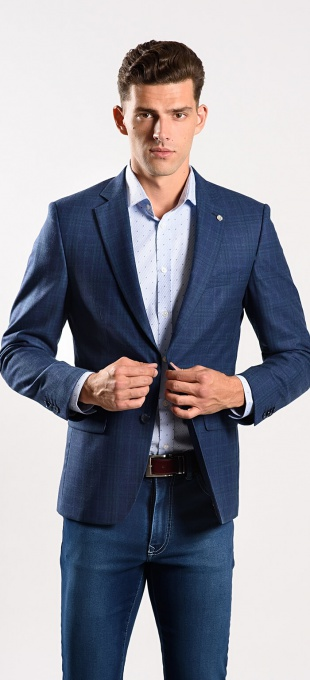 LIMITED EDITION blue wool blazer