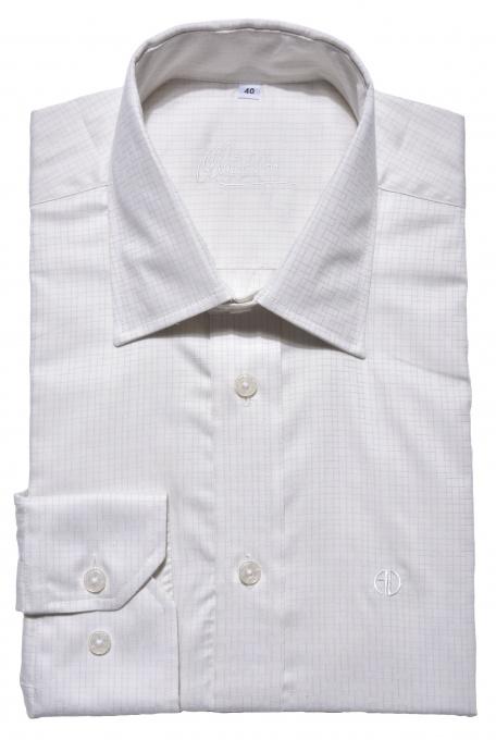 Ivory checkered Slim Fit shirt