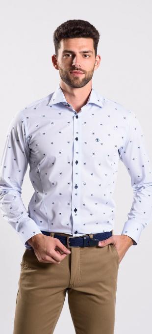 Bledomodrá Extra Slim Fit košeľa