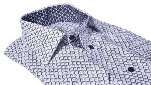 LUXURY LINE printová Slim Fit košeľa