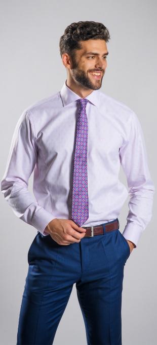 Ružová Extra Slim Fit business košeľa