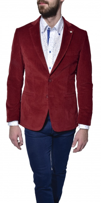 Burgundy courdoy blazer