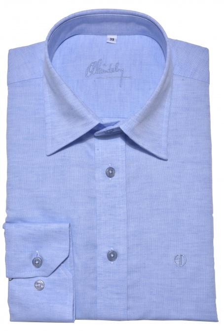 Light blue Slim Fit linen shirt