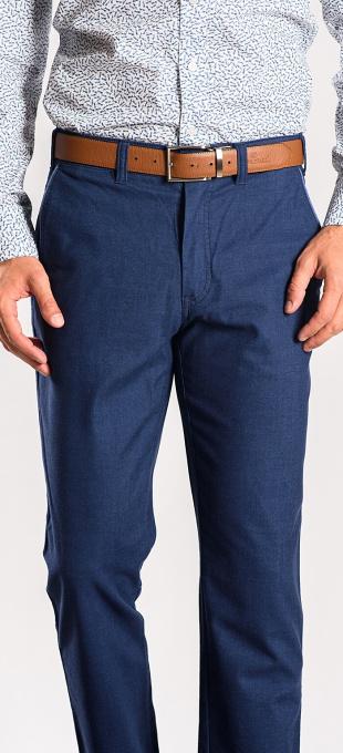 Modré bavlnené nohavice rady Basic