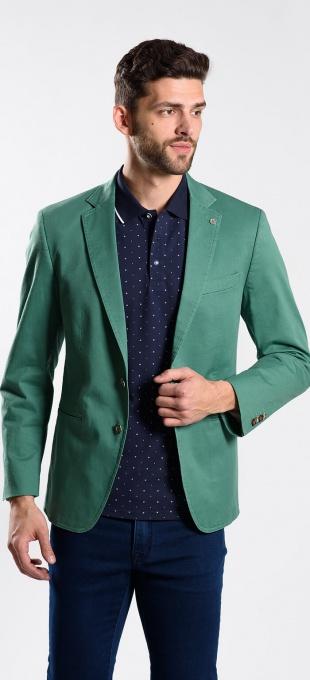 Zelené bavlnené sako