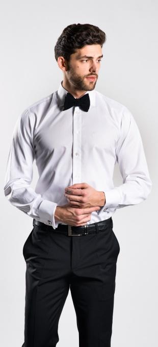 Biela Slim Fit spoločenská košeľa