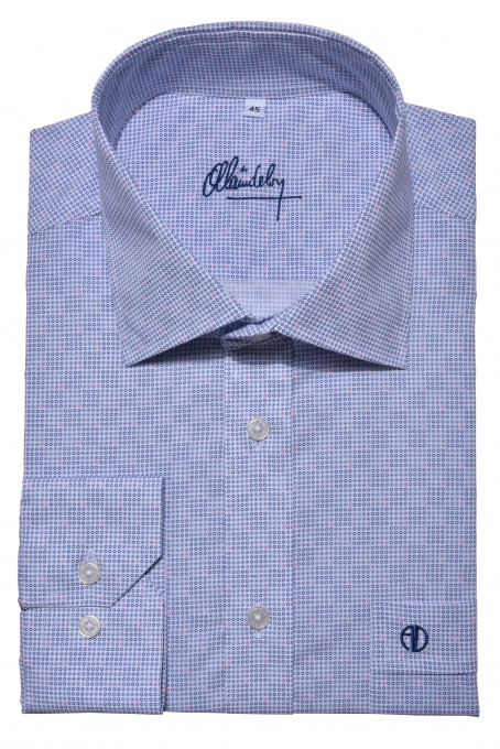 Blue Classic Fit printed shirt