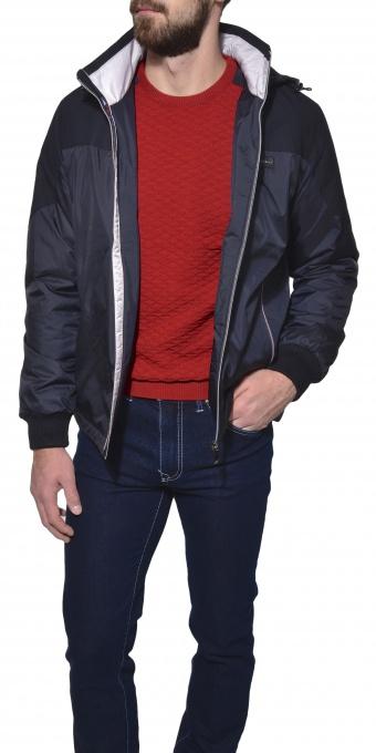 Modrá voľnočasová bunda