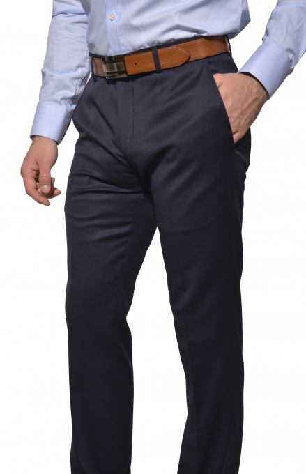 Tmavomodré Basic oblekové nohavice