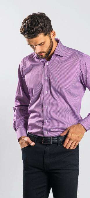 Purple business Slim Fit shirt