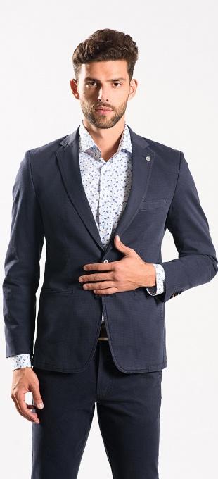 Blue cotton blazer