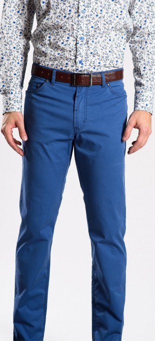 Blue spring trousers