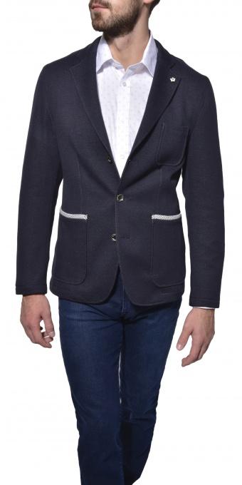 Blue unstructured blazer