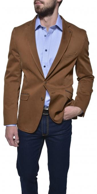 Hnedé bavlnené sako