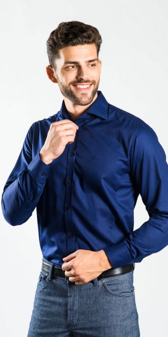 Dark Blue Extra Slim Fit shirt