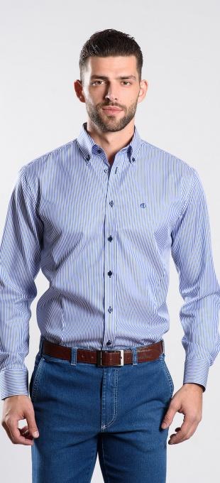 Prúžkovaná voľnočasová Extra Slim Fit košeľa