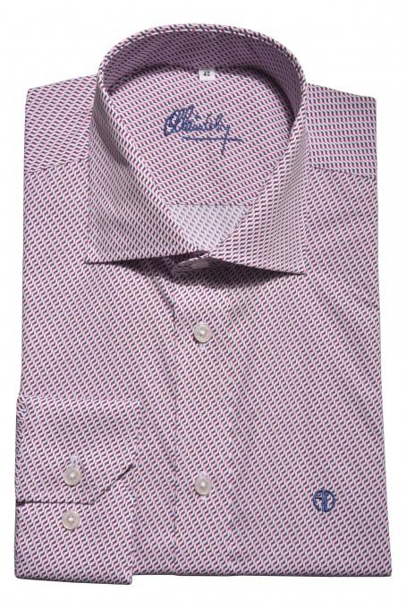 Slim Fit business košeľa s printom