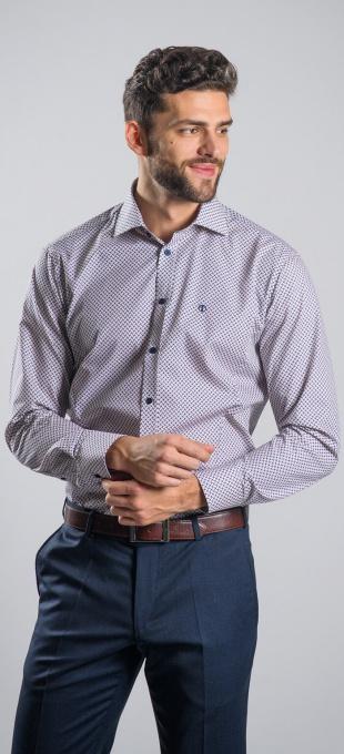 Voľnočasová Extra Slim Fit košeľa s printom