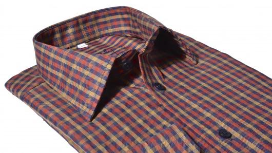 Károvaná voľnočasová Slim Fit košeľa