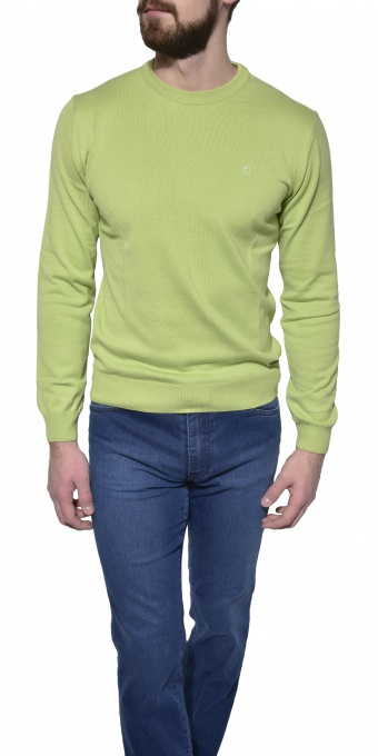 Green cotton crewneck