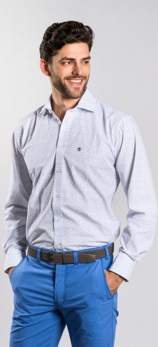 Modrá Slim Fit košeľa rady Basic
