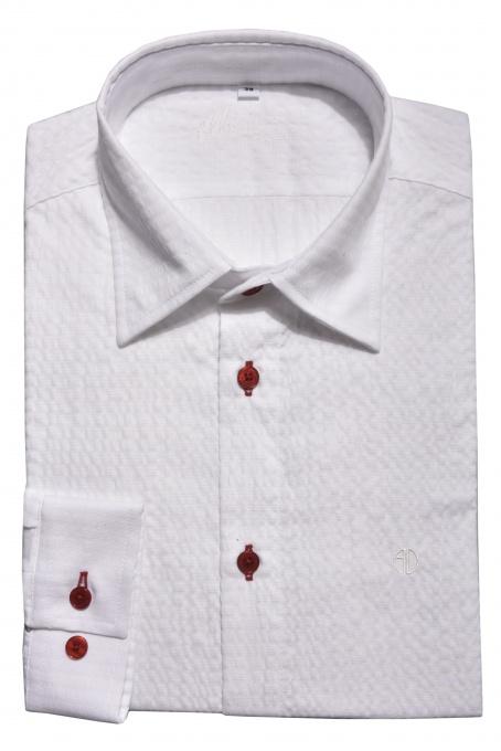 Biela krepová Extra Slim Fit košeľa