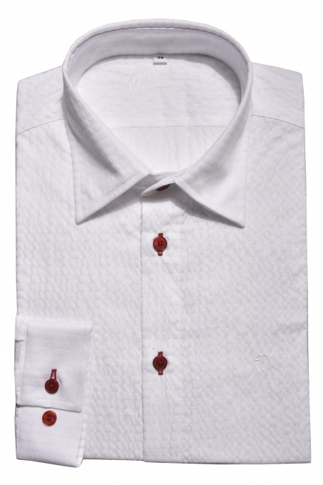 White crepe Extra Slim Fit shirt