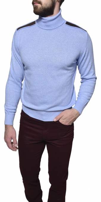 Light blue turtleneck