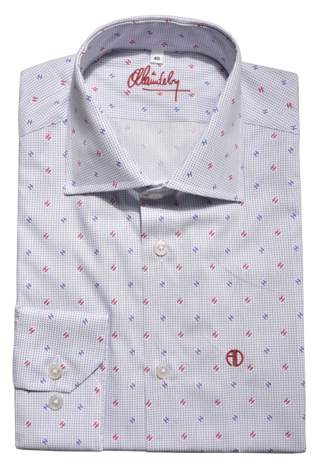 White Classic Fit printed shirt