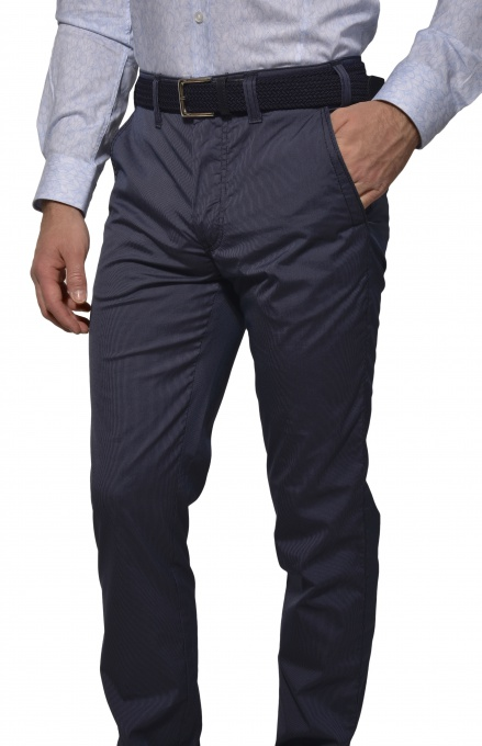 Šedo-modré Basic chinos nohavice
