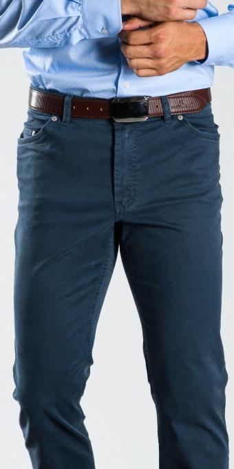Šedo-modré bavlnené nohavice