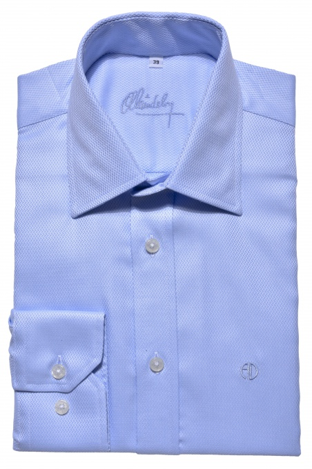 Modrá business Slim Fit košeľa