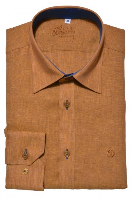 Ochre Extra Slim Fit linen shirt