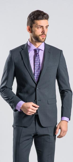 Šedý Slim Fit oblek