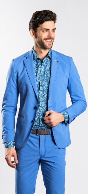 Light blue cotton blazer