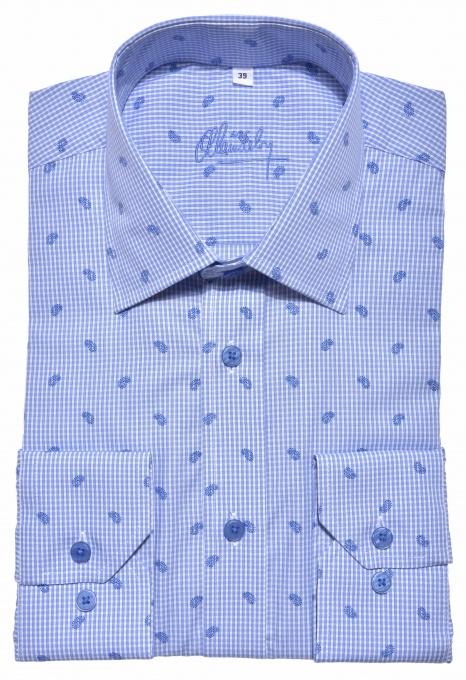 LUXURY LINE modrá Slim Fit košeľa