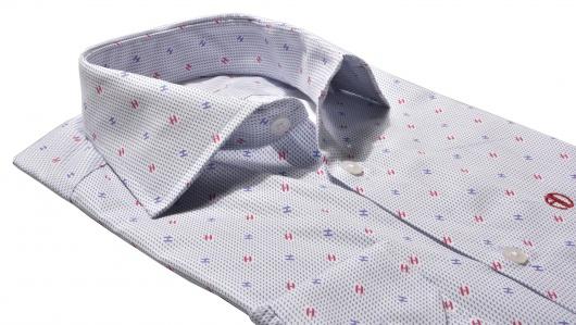 White Slim Fit printed shirt