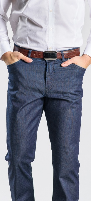 Grey-blue casual trousers