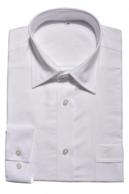Biela voľnočasová Slim Fit košeľa