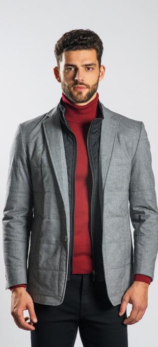 Grey padded blazer