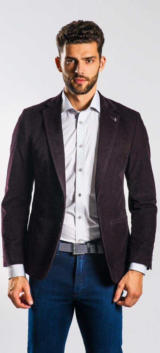 Dark brown cotton Basic blazer