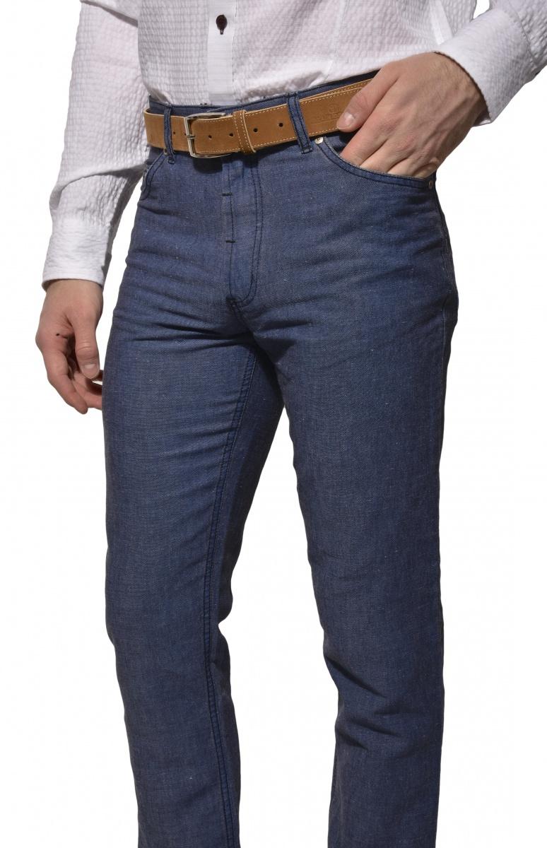 Modré jarné nohavice
