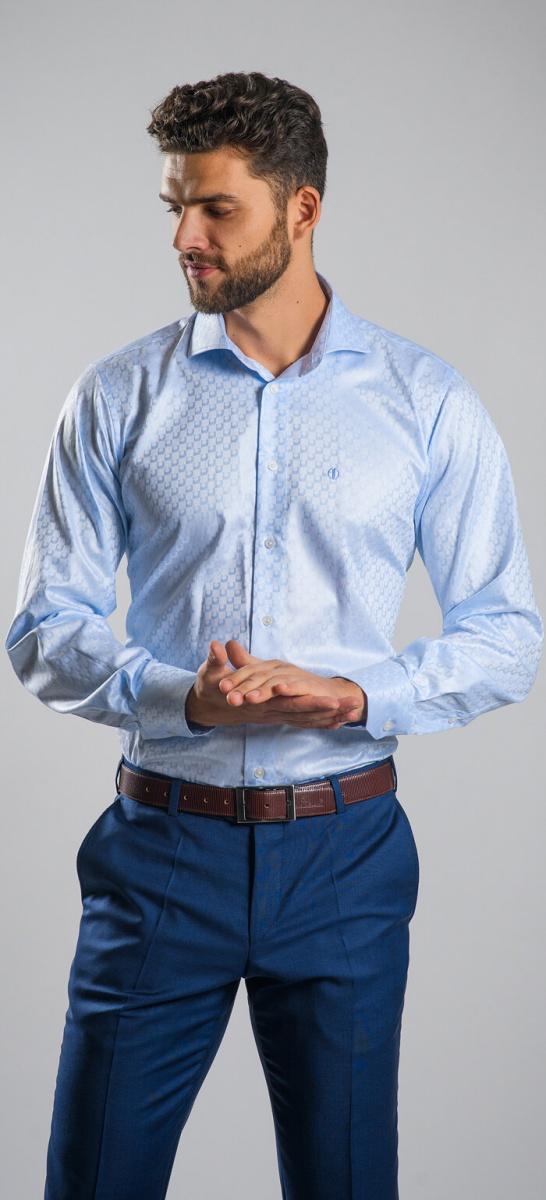LIMITED EDITION modrá Slim Fit košeľa