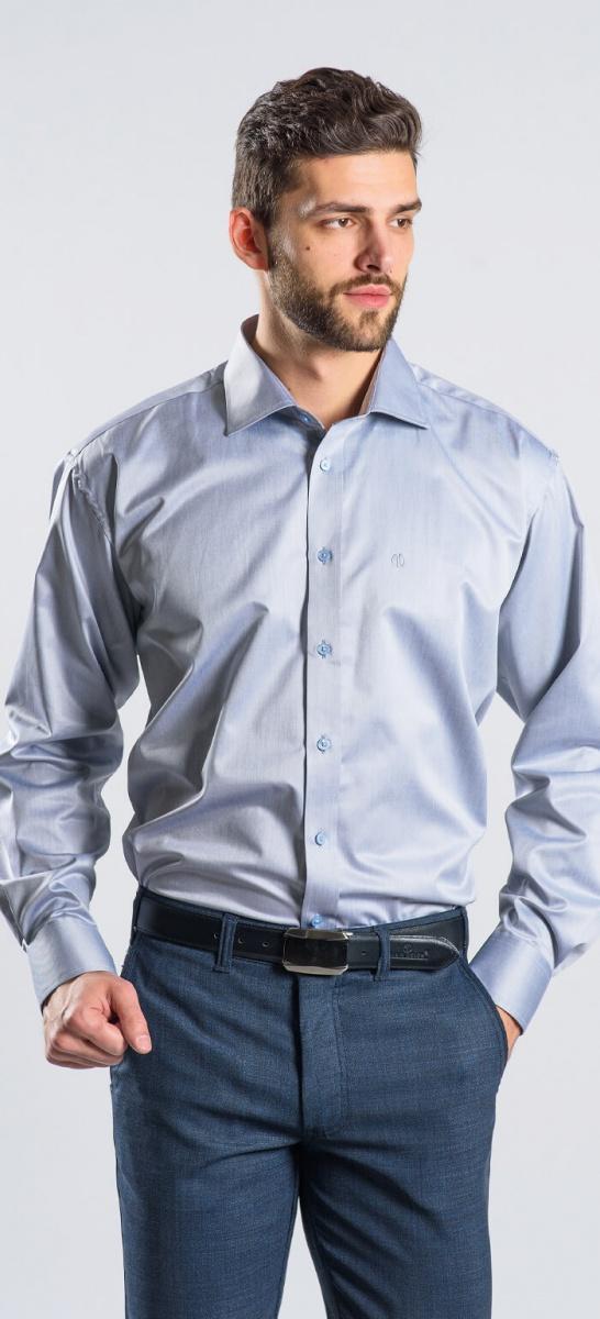 Šedá Classic Fit košeľa