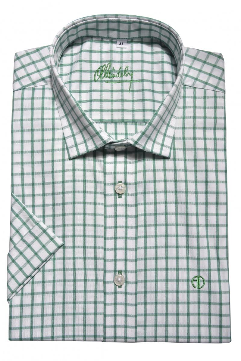 Checkered Slim Fit short sleeved shirt