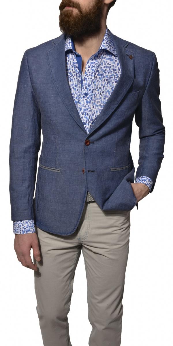 Modré jarné sako