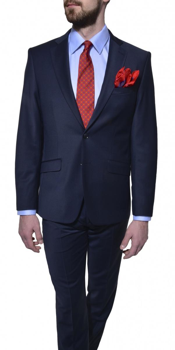Tmavomodrý Ultra Slim Fit oblek