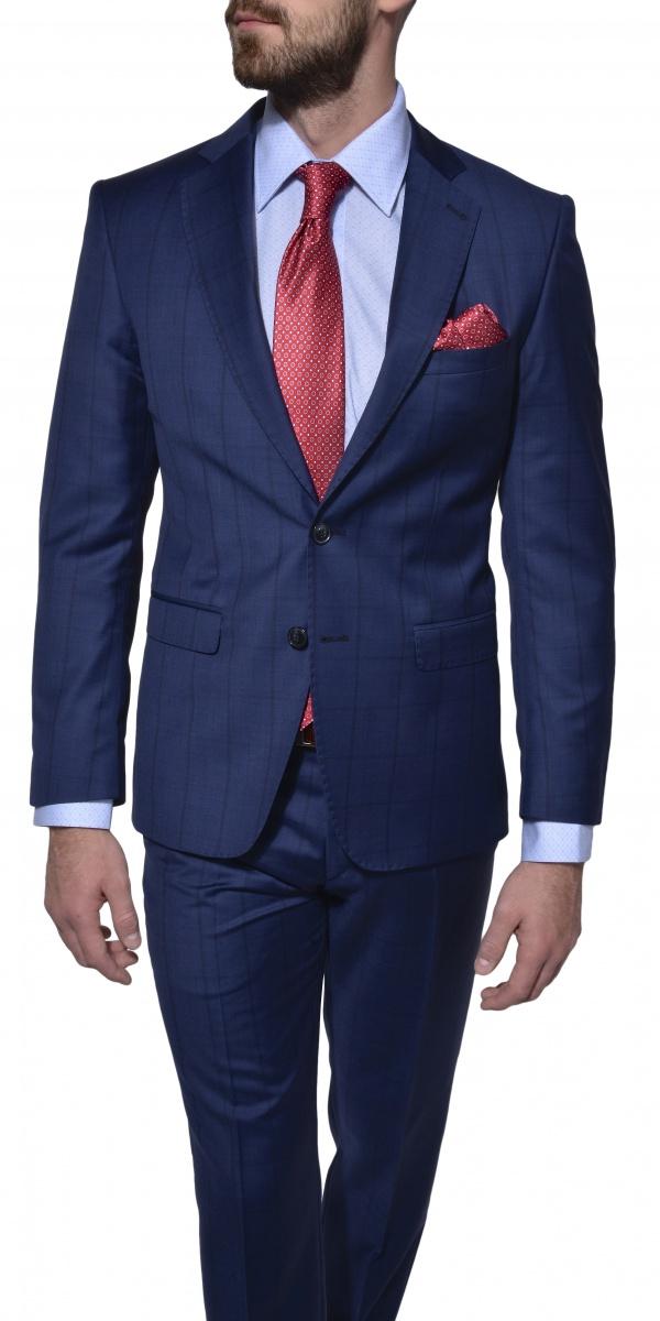 LIMITED EDITION modrý vlnený oblek