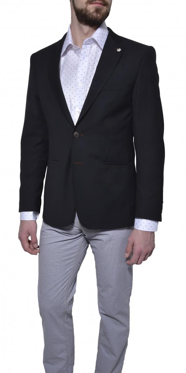 Čierne voľnočasové sako