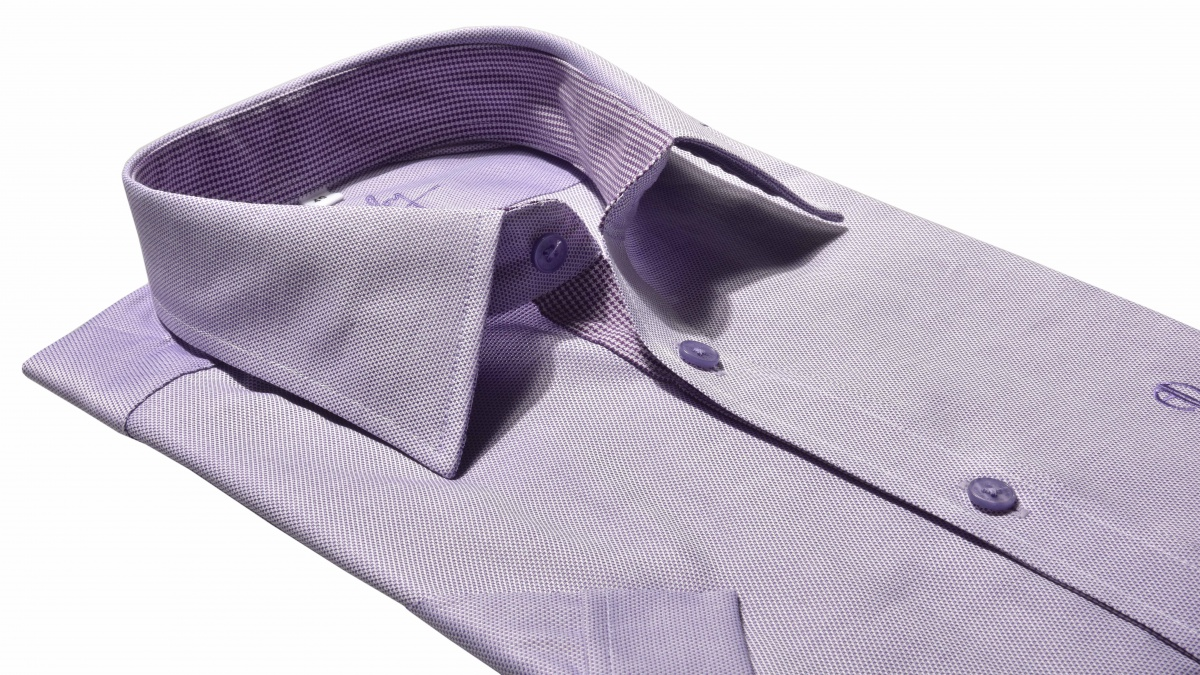Purple Extra Slim Fit short sleeved shirt